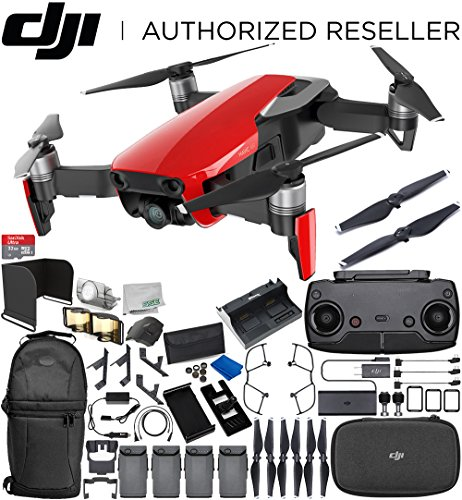 DJI Mavic Air Drone Quadcopter (Flame Red) 4-Battery Ultimate Bundle