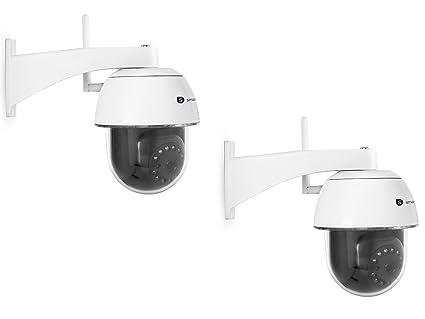 Cámara IP Outdoor Dome cámaras, visión nocturna y sensor de movimiento, App control
