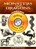 Monsters and Dragons (Dover Electronic Clip Art) (CD-ROM and Book)