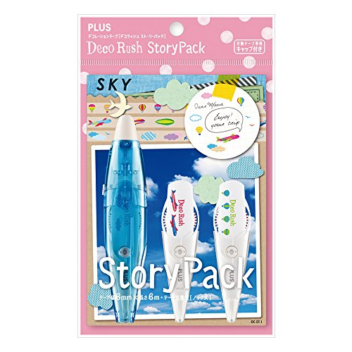 Plus Decoration Tape Deco Rush Story-Sky Blue