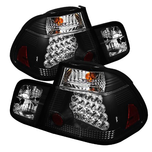 Spyder Auto ALT-YD-BE4602-4D-LED-BK BMW E46 3-Series 4-Door Black LED Tail Light