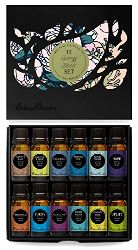 12/ 10 ml Synergy Blends 100% Pure & Natural Aromatherapy Therapeutic Grade Essential Oils