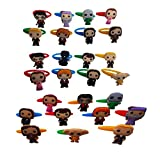 AVIRGO 26 pcs Colorful Releasable Ponytail Holder Elastic Rubber Stretchable No-slip Hair Tie Set # 234 -7