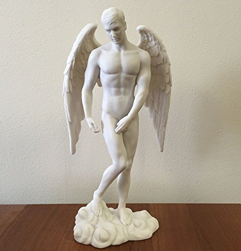 Male Nude Angel Statue - Male Sculpture Figure - Ships Immediately - Ero Vintage