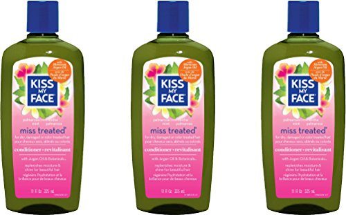 Kiss My Face Miss Treated Conditioner, Palmarosa Mint 11 oz ( Pack of 3)