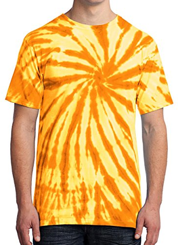 Tie Die T-Shirt for Men Gold ()