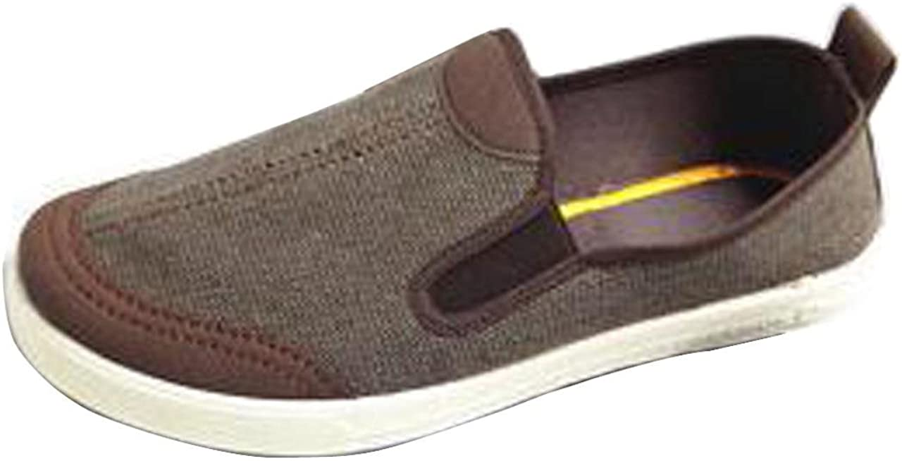 Gaorui Men New Casual Driving Zapato Moccasin Loafer Slip On Board Canvas Shoes