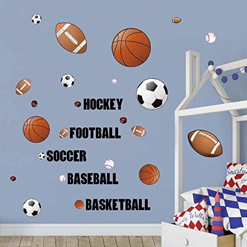 Decalmile Sports Wall Decals Boys Wall S Buy Online In Aruba At Desertcart