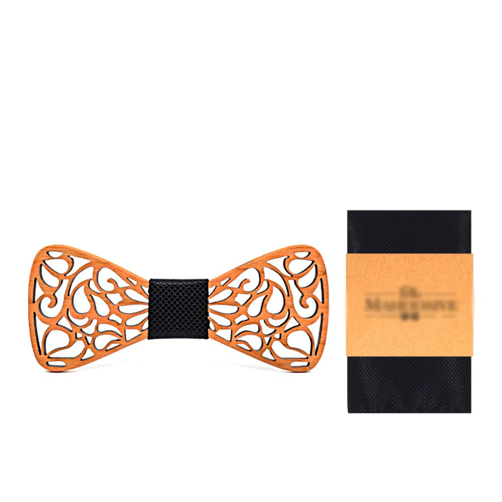 Dig Dog Bone Wood Hollow Out Tie Handmade Wood Retro Green Wooden Bow Tie Mens Suits Mens and Womens