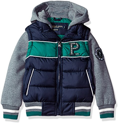 US Polo Association Little Boys' Fashion Outerwear Jacket, UB43-Vest-Classic Navy, 7