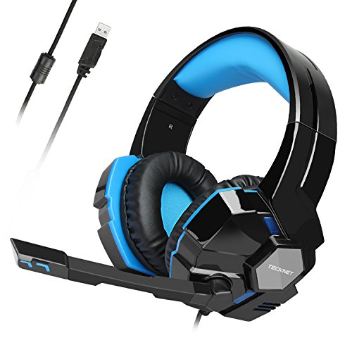 Gaming Headset,TeckNet USB 7.1 Channel Surround Sound Over-Ear Gaming...