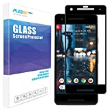 Google Pixel 2 Screen Protector, PLESON Pixel 2 Tempered Glass Screen Protector, [Case Friendly] [Bubble-Free] [Anti-Scratch] 9H 3D Curved Glass Screen Protector for Pixel 2, Black
