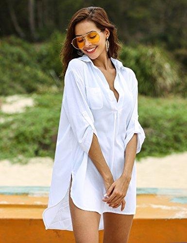Image of Ekouaer Women�s Bathing Suit Cover Up Beach Bikini Swimsuit