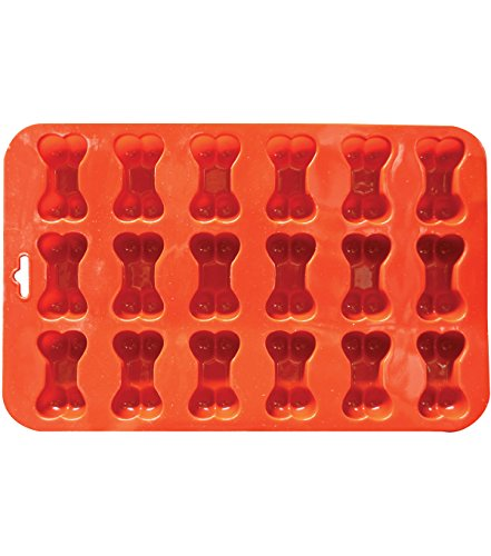 Mini Bone Silicone Baking Pan flexible Mold Ice Tray Dog Puppy Treat Cookie Pet (Ships From USA)