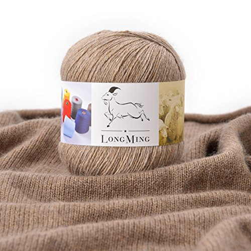 LongMing 21Nm/3 3-ply Cashmere Blended Yarn, Soft and Warm, Crafts, Knitting, High Elasticity, Anti-pilling. 30 Colors (50g, L579)