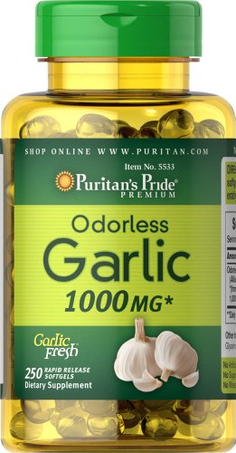 Puritan's Pride Odorless Garlic 1000 mg-250 Rapid Release Softgels