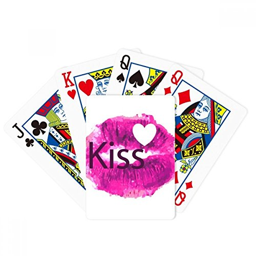 Kiss Love Valentine's Day Pink Lip Poker Playing Cards Tabletop Game Gift