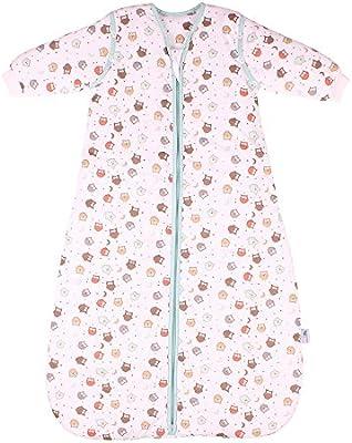 Saco de dormir para bebé Slumbersac con Mangas Largas REMOVIBLES - Búho, 2.5 Tog, 0-6 meses
