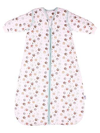 2.5 Tog B/úho Saco de dormir para beb/é Slumbersac con Mangas Largas REMOVIBLES 0-6 meses
