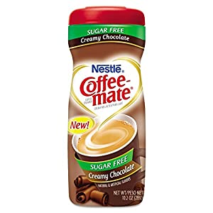 Coffee Mate Non-Dairy Coffee Creamer in Sugar Free Creamy Chocolate, 10.2 Oz. (4 Pack)