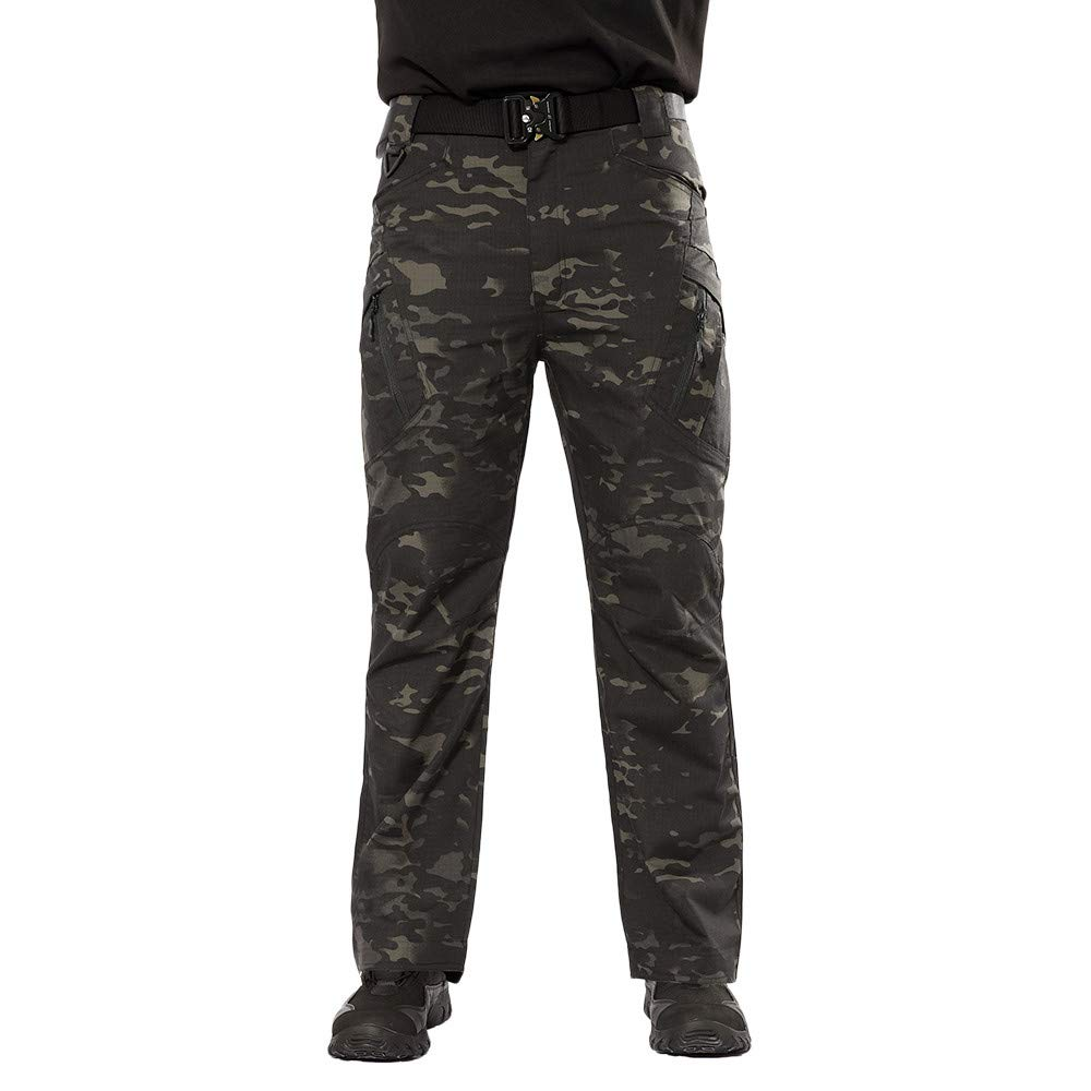 Izhh Mens Chino Pants Sweatpants Stretch Casual Military Army Winter 10 Tactical Cargo Outdoor