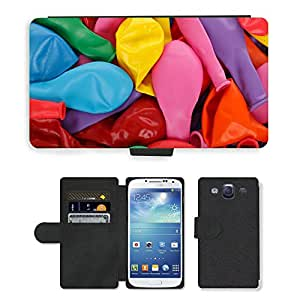 Hot Style Cell Phone Card Slot PU Leather Wallet Case // M00151991 Pattern Balloon Balloons Birthday // Samsung Galaxy S3 S III SIII i9300