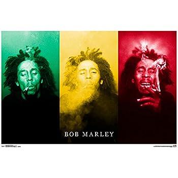 "Trends International Bob Marley Smoke Trio Wall Poster 22.375"" x 34"""