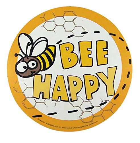 - Bee Happy Bumble Bee Round Magnet for Car, Refrigerator, and Office