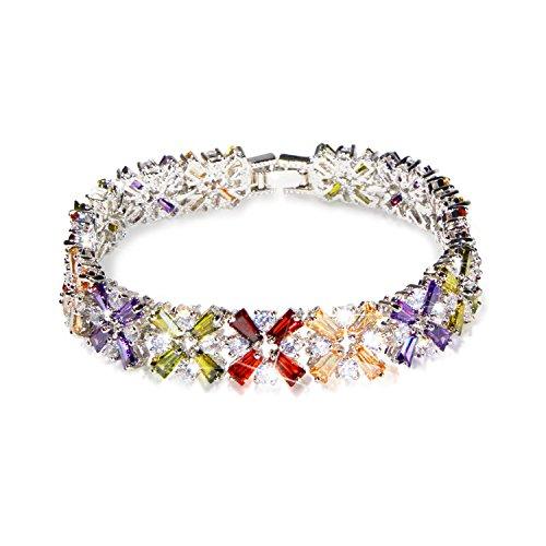 MHZ Silver Copper Cross Wife Bangle Bracelets Birth - Crystal Mhz