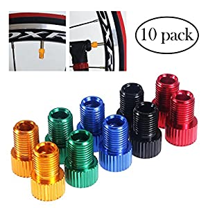 WINOMO 10pcs Bike Valve Adapter Bicycle Presta to Schrader Converter Tube Pump Air Compressor Tools