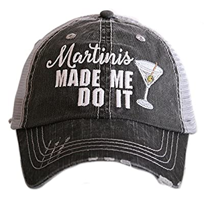 Martinis Made Me Do It Women's Trucker Hats Caps by Katydid