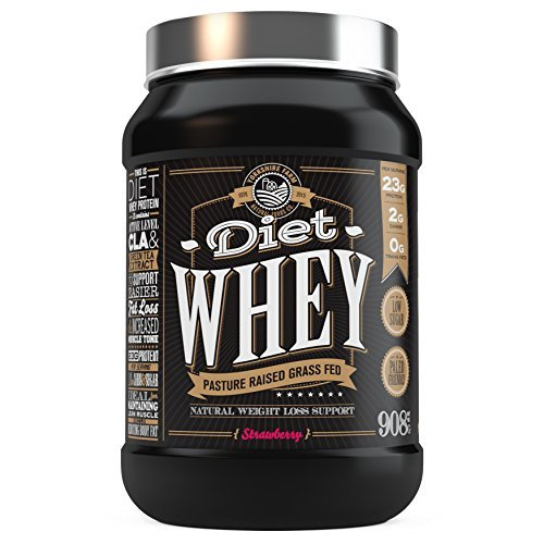 Diet Whey Protein by Yorkshire Farm (908g) - Organic Whey Protein - Natural Whey Protein - Maximize Lean Muscle & Weight Loss - Strawberry Flavour by Yorkshire Farm by Yorkshire Farm