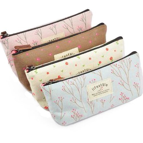 ReNext Canvas Pencil Case, Set of 4 (Color may vary)