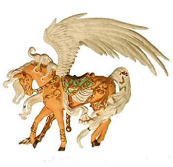 Retired Nene Thomas Phoenix Gold Carousel Horse Fantasy Couture Figurine Ornament