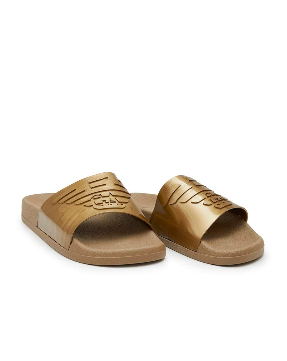 00069 gold Slippers flip flop woman sea or pool beachwear EMPORIO ARMANI article X3PS02 XL825 SLIPPER