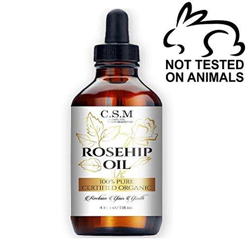 100% Organic Rosehip Oil (4oz) - Amazing Anti- Aging Skin Care Product to Repair Dry Skin With Antioxidants & Retinol