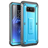 Samsung Galaxy S8 Case, SUPCASE Full-Body Rugged Holster Case with Built-in Screen Protector for Galaxy S8 (2017 Release), Unicorn Beetle Shield Series - Retail Package(Blue)