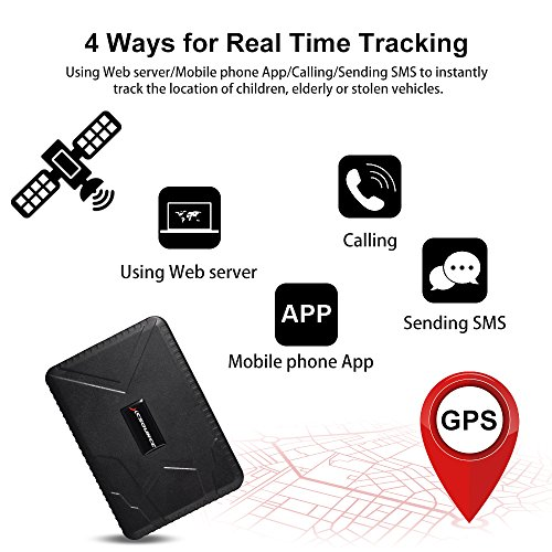 GPS Tracker 10000mAh Anti Lost Waterproof GPS Tracker, 120 days Standby GSM/GPRS Real Time Tracking Device Locator for Cars SUVs Motorcycles Trucks Vehicles