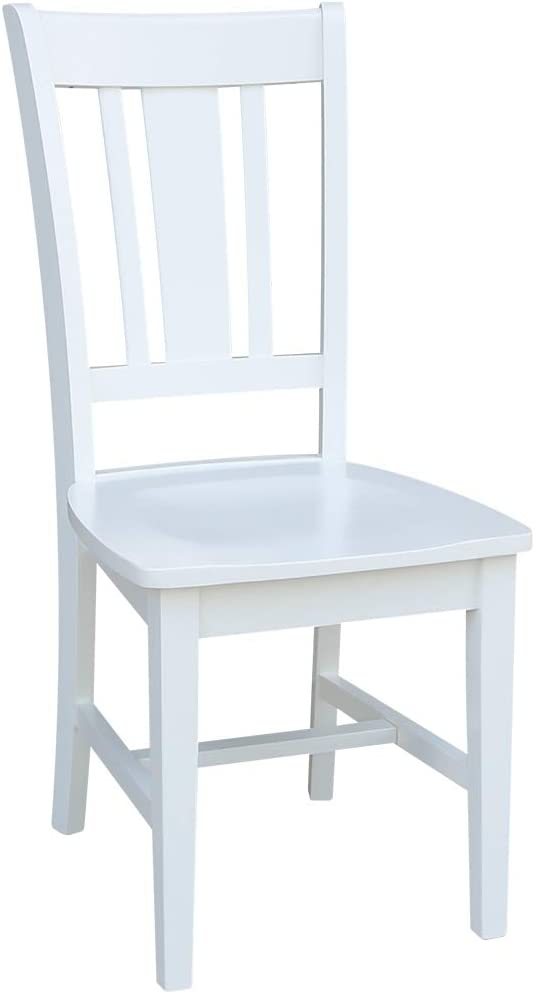 International Concepts Set of Two San Remo Splatback Dining Chairs, White