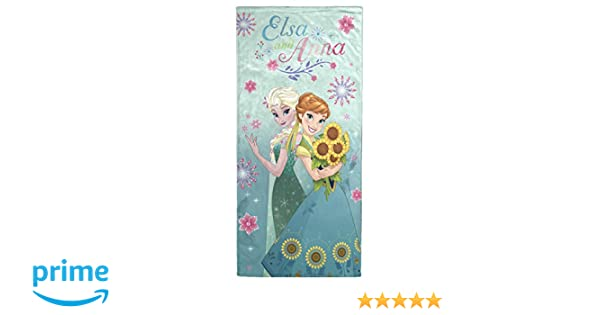 Jay Franco Frozen Floral Fever Cotton Beach Towel Green Jay Franco and Sons JF62672FL