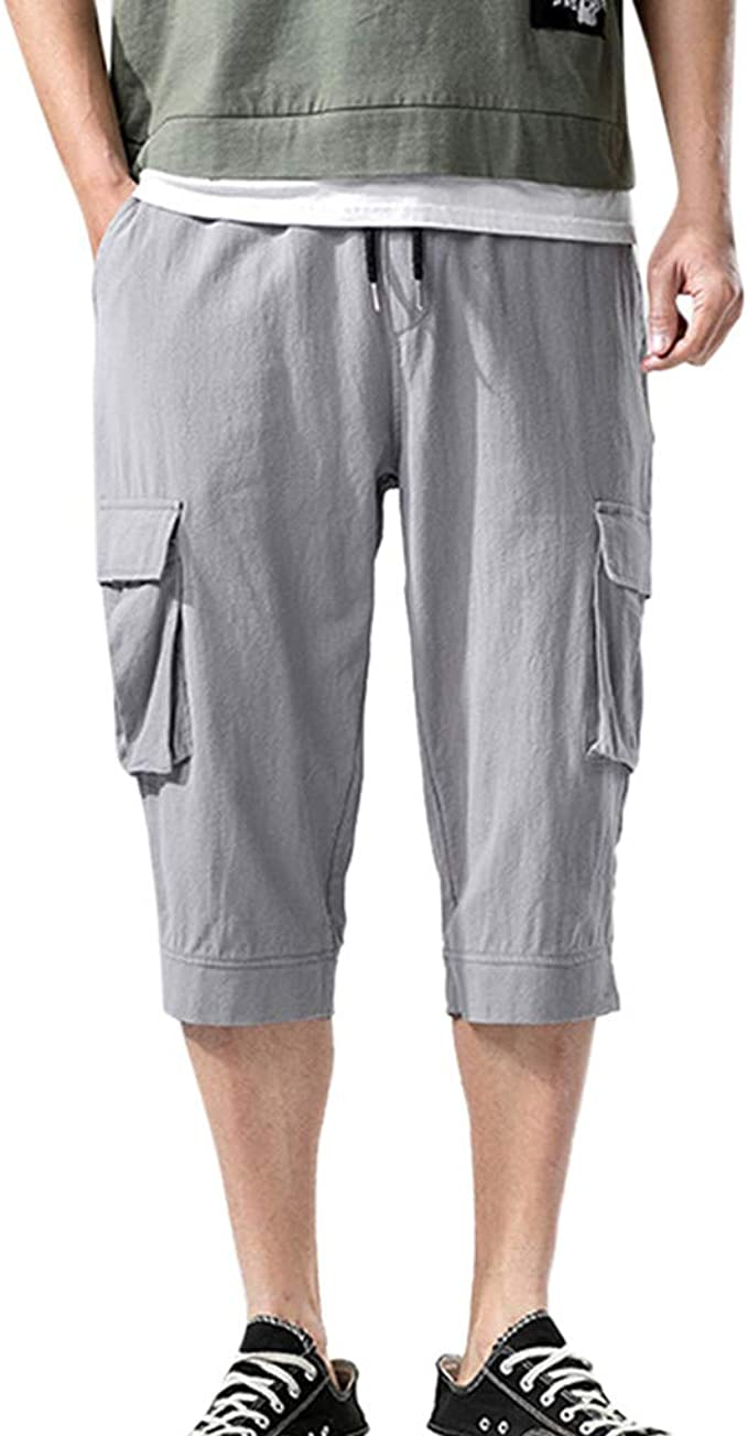 Pantalones YiYLunneo Pantalones Cortos Hombre Deporte con ...