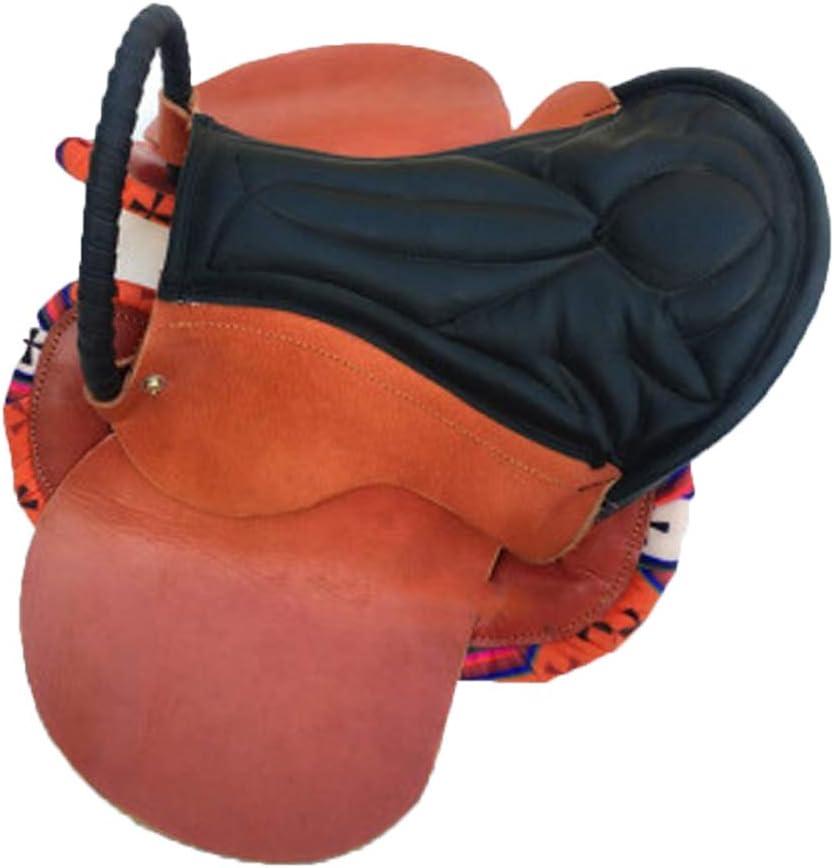 BLCC Mobiliario para sillas de Montar Equipo para Caballos Expositor de sillas Adornos para sillas de Montar Juego Completo de taburetes para sillas de Montar, sillín pequeño, Adecuado Dark Brown
