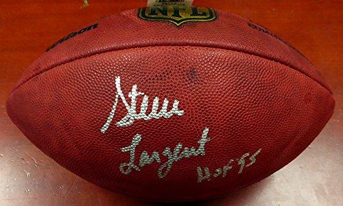 (Steve Largent Autographed NFL Leather Football Seattle Seahawks