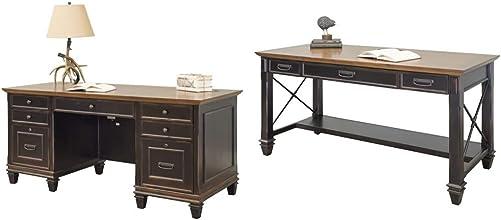 Reviewed: Martin Furniture Hartford Double Pedestal Shaped Desk