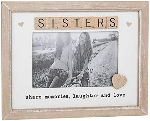 Shudehill Sisters Share Memories, Laughter and Love Scrabble - Marco de Fotos de Madera para Regalo: Amazon.es: Hogar