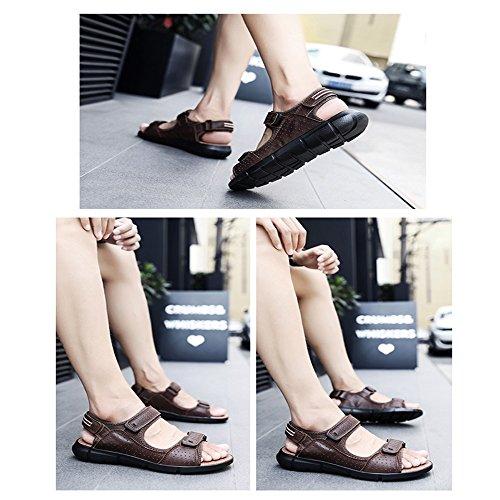 Size Dark Sandali 3 EU Color 43 1 da Brown spiaggia regolabili Black estivi antiscivolo rq70arw