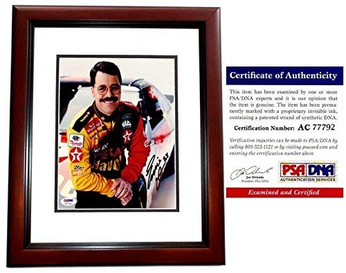 - Ernie Irvan Autographed Signed Texaco Nascar Driver 8x10 Photo - Mahogany Custom Frame - PSA/DNA Authentic