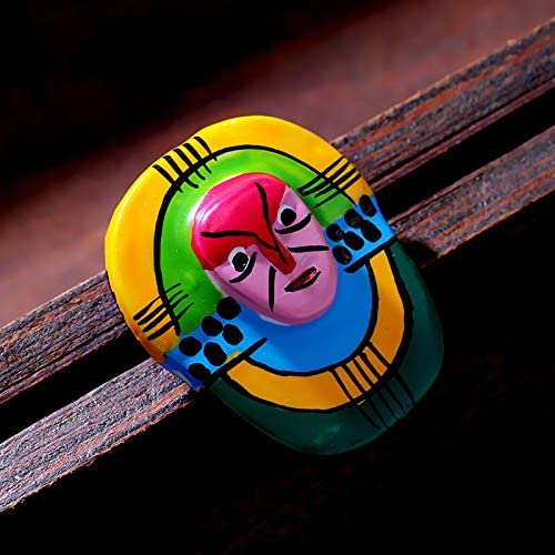 YYOGG Brooch Hand-Painted Enamel Color Mask Brooch Freely Disassembled to Wear