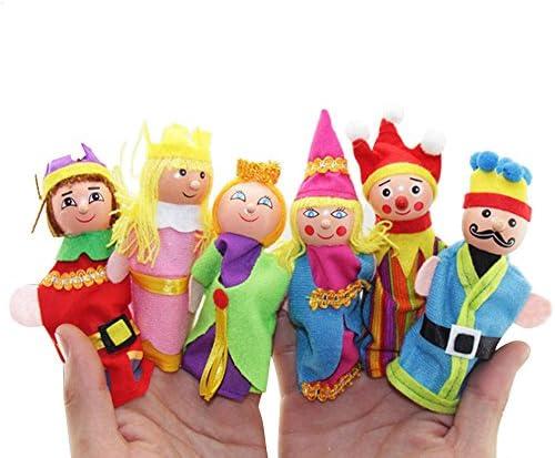 [해외]Salaks [US Stock 6 Pcs Finger Storytelling Toys Christmas Finger Hand Puppet for Kids Gift Educational Toys Gift (Random Color) / Salaks [US Stock 6 Pcs Finger Storytelling Toys Christmas Finger Hand Puppet for Kids Gift Educationa...