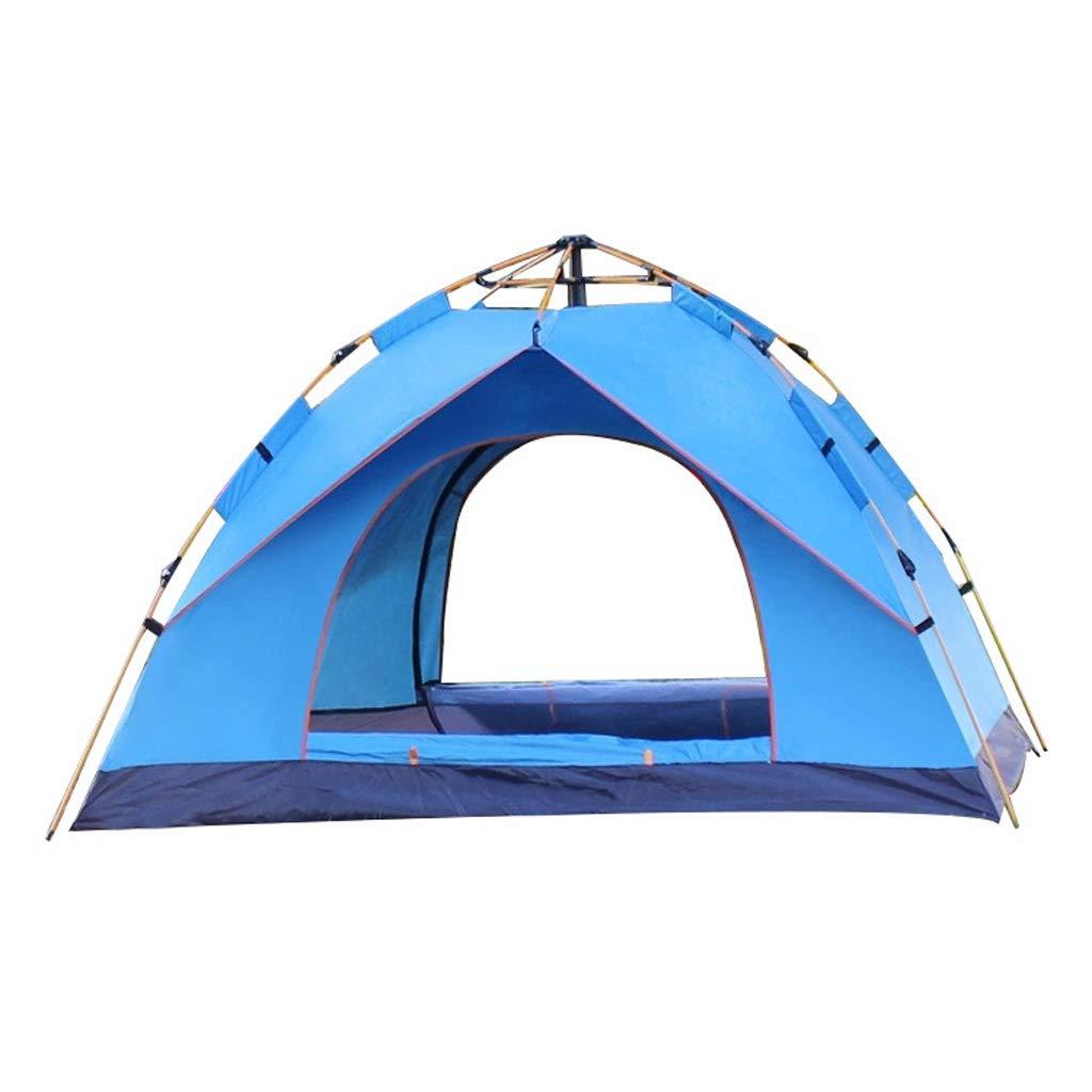 Automatisches Pop-Up Zelt, TüRen Auf Beiden Seiten - Atmungsaktives Maschengarn Large Space, Wasserabweisend & UV-Schutz Perfekt füR Strand Outdoor Reisen Camping Jagd Angeln Usw
